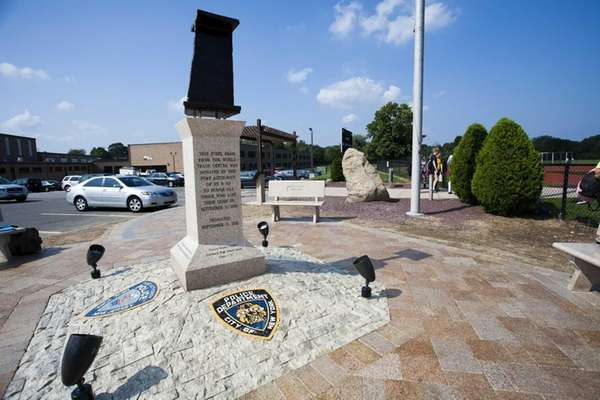 9/11 memorial at Commack High School, Commack. (Sept.