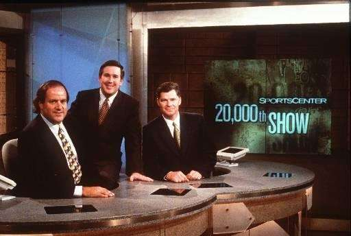 ESPN quot;SportsCenter'' hosts, from left, Chris Berman, Beb