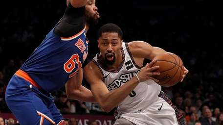 Spencer Dinwiddie has stepped up in Kyrie Irving's