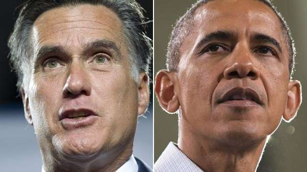 Republican presidential candidate Mitt Romney and President Barack