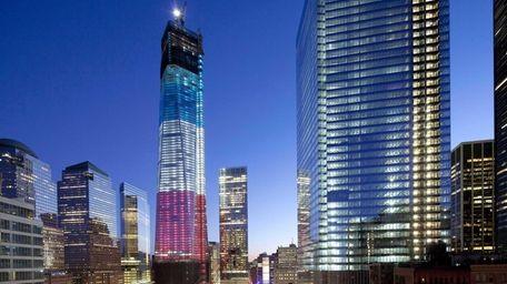 1 World Trade Center, left, the National September