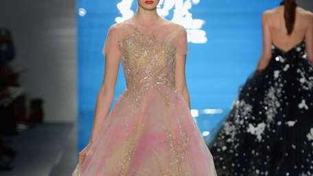 The finale dress at Reem Acra's Spring 2013