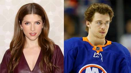 Actress Anna Kendrick and NHL player Anthony Beauvillier
