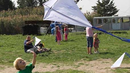 Kids can create their own kites and fly