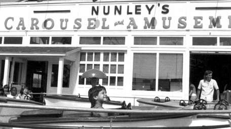 Nunley's Carousel and Amusements on the corner of