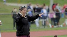 Garden City head coach Diane Chapman speaks to