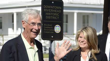Riverhead Landmarks Preservation Commission Chairman Richard Wines and