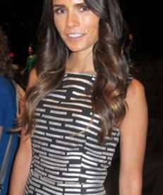 Actress Jordana Brewster wears Naeem Khan at the