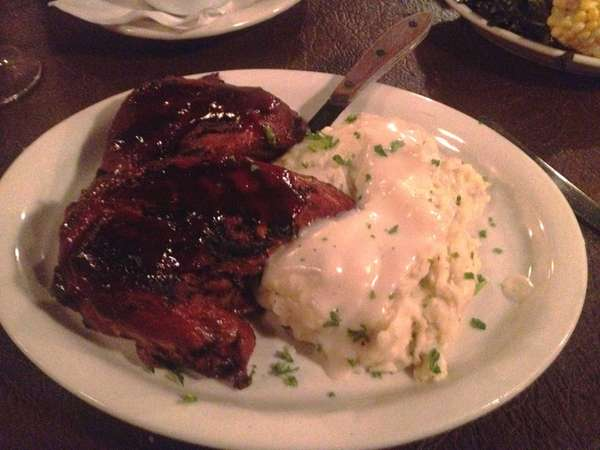 This is the barbecued chicken at R.S. Jones