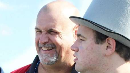 Joe Gallagher, left, with his son Brendan Gallagher
