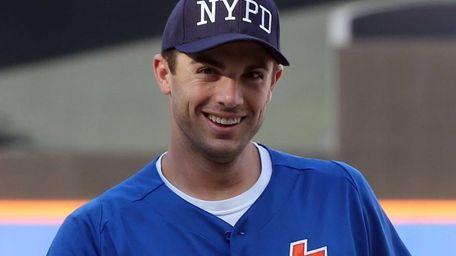 Mets third baseman David Wright wears an NYPD