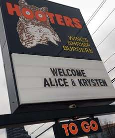 A former Hooters, now Bud's Ale House, will