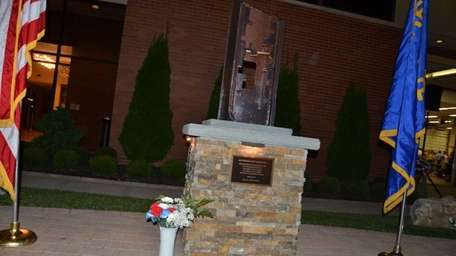 The Centereach Fire Department unveiled its 9/11 memorial