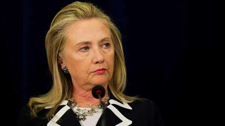 U.S. Secretary of State Hillary Clinton delivers remarks