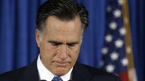 Republican presidential candidate Mitt Romney makes comments on