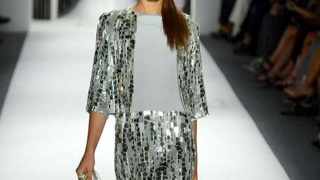 Sequins minis and cool matte column gowns with