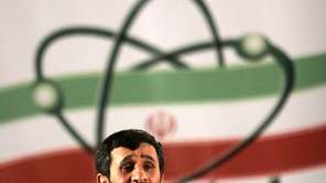 Iranian President Mahmoud Ahmadinejad speaks at a ceremony