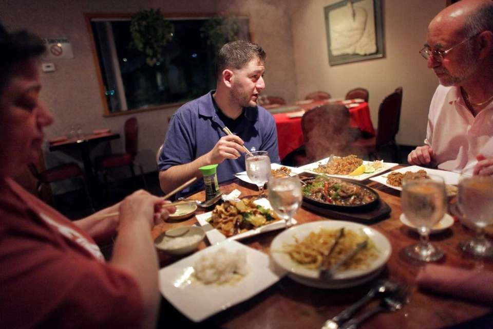 Patrons dine at Tao, a restaurant serving Chinese