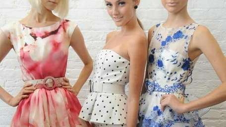 Models backstage at Alice + Olivia By Stacey