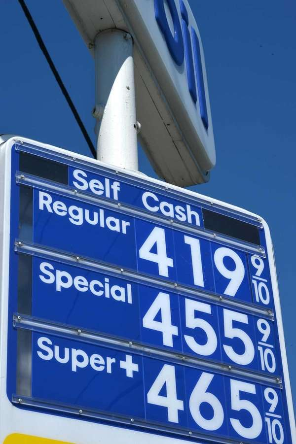 Gasoline prices fell this year on Long Island