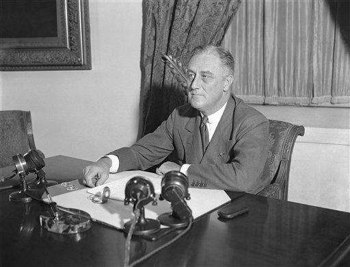 President Franklin D. Roosevelt is shown at his