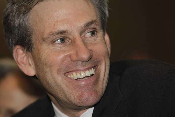 U.S. envoy Chris Stevens attends meetings at the