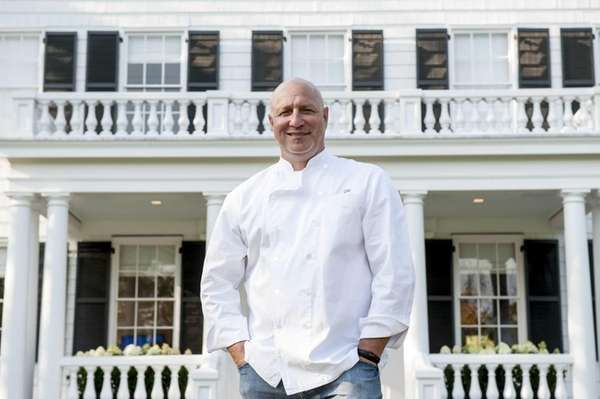 Chef Tom Colicchio outside his new venture the
