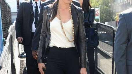 Katie Holmes is seen during Spring 2013 Mercedes-Benz