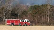 Emergency responders answer a fire call at the
