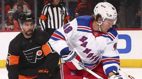 Brendan Lemieux of the Rangers will be out