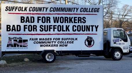 One of the billboards used by Suffolk County