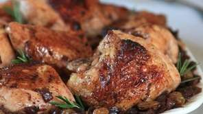 Chicken agrodolce, prepared with sweet and sour onions