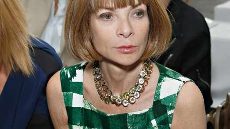 Editor in chief of Vougue Anna Wintour attends