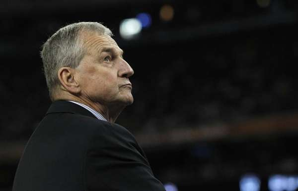 Connecticut head coach Jim Calhoun. (April 4, 2011)