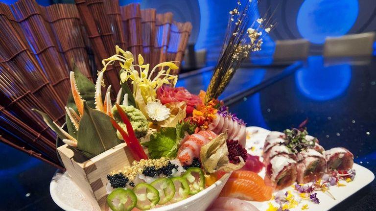 A sushi and sashimi platter prepared by Kashi