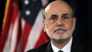 Federal Reserve chairman Ben Bernanke at a news