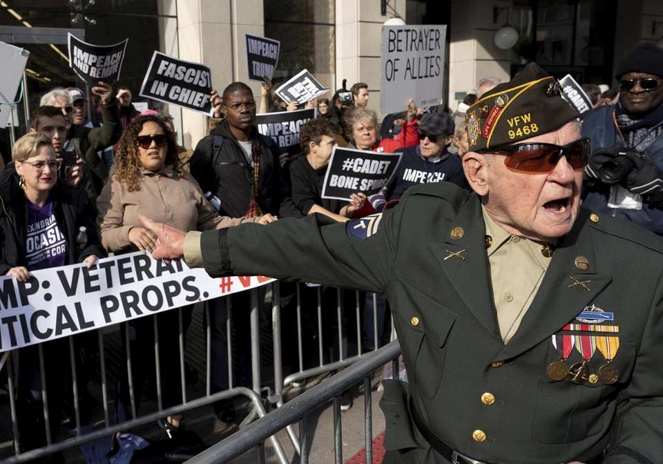 A World War II veteran named Jimmy, right,