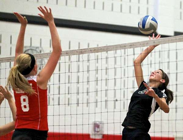 Connetquot's Katie Baker goes up for the block