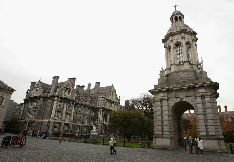 Dublin's Trinity College offers a variety of reasonably