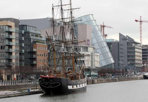 The Irish famine ship Jeanie Johnston on the