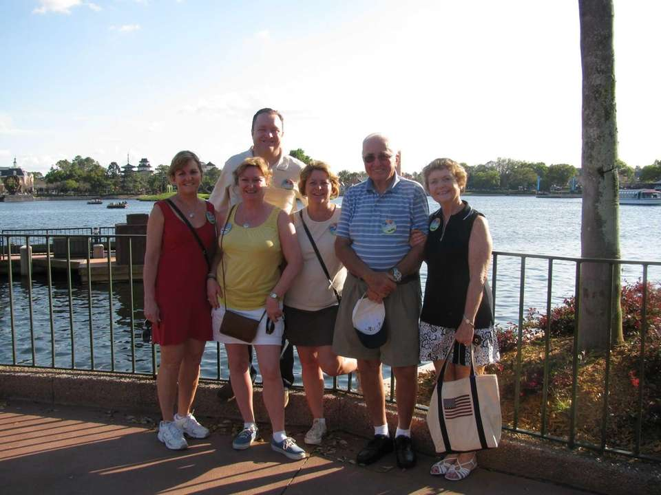 The Barry family at Disney World: brother Rob