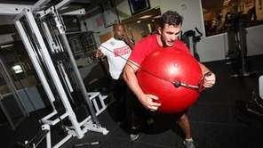 MMA fighter Gian Villante of Levittown exercises as