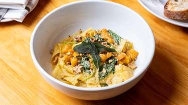 House pappardelle with butternut squash, brown butter sage,