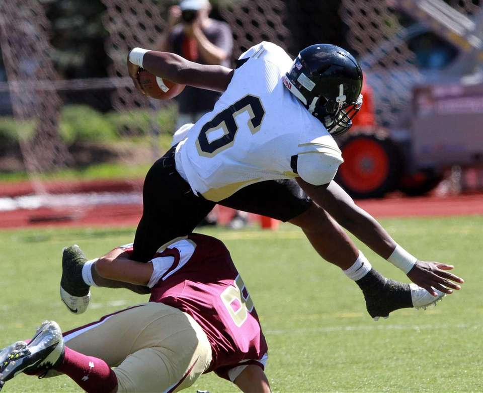 St. Anthony's Niam Jones can't leap over Michael