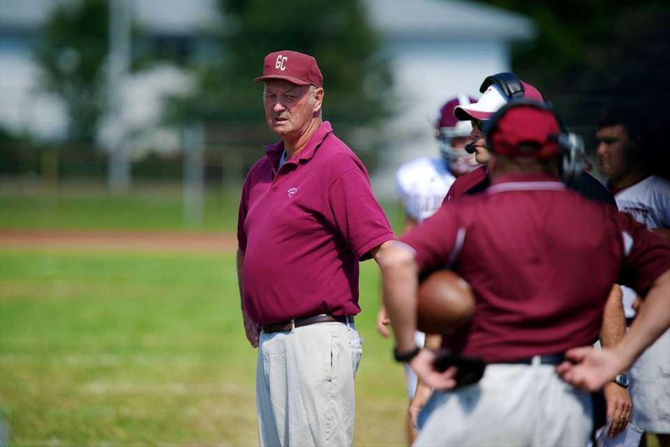 Garden City coach Tom Flatley stands on the