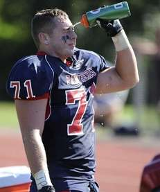 Miller Place's Chris Buchalski cools off on the