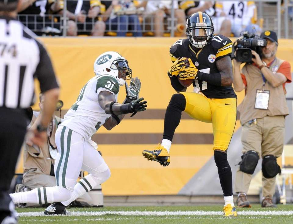 Pittsburgh Steelers wide receiver Mike Wallace (17) makes