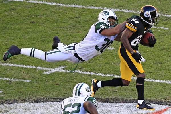New York Jets free safety LaRon Landry (30)