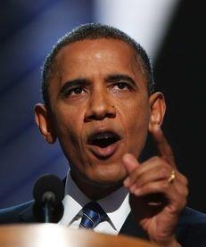 President President Barack Obama speaks on stage to