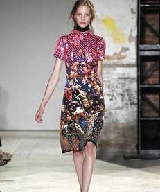 A model walks the runway at the Proenza